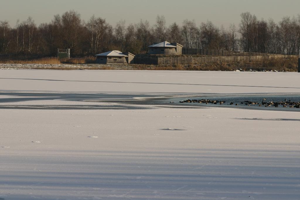 Observatoires panoramiques pris dans les glaces