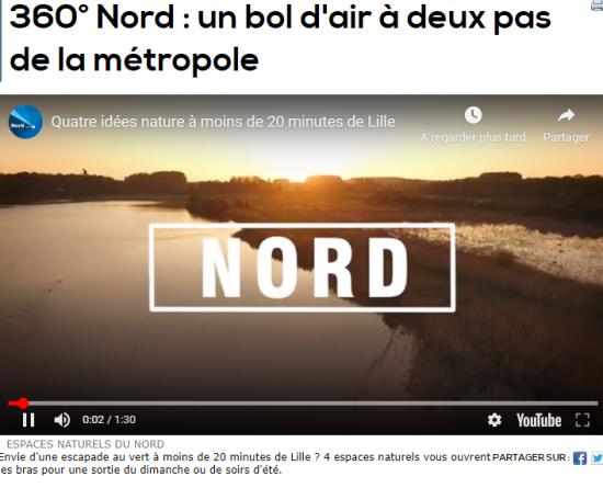 Vidéo sur les Espaces Naturels du Nord